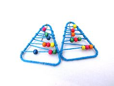 Colorful Abacus Paper Clip Earrings Earrings  The by LunaRosaShop, $13.00