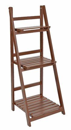 ts-ideen Etagère escalier 3 marches pour plantes et déco Marron Jardin, balcon, terrasse, salon, entrée: Amazon.fr: Cuisine & Maison