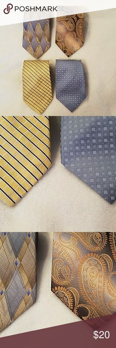 "Silk ties Four men 60"" silk ties, excellent condition, no stains. Accessories Ties"
