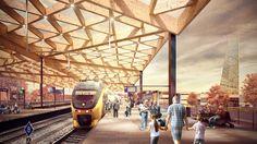 Mecanoo presenta diseño de nueva estación de trenes en Holanda,Cortesía de…