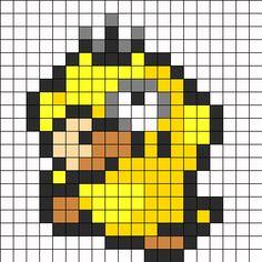Psyduck Pokemon Sprite bead pattern