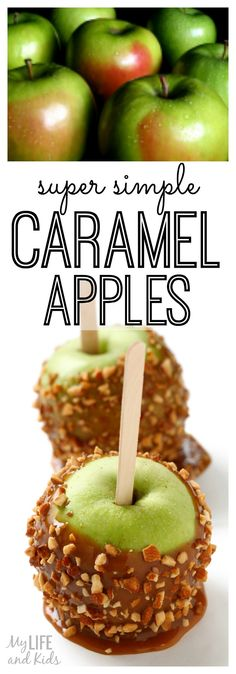 This is a super simple caramel apple recipe. Get ready for fall with these delicious, homemade caramel apples!