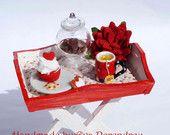 Miniature Cupcake shop cart for dollhouse. $135.00, via Etsy.