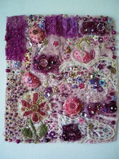 Fabric collage*SOLD* by Createarian, via Flickr