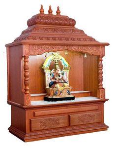 Pooja Room Mandap Designs in Wood
