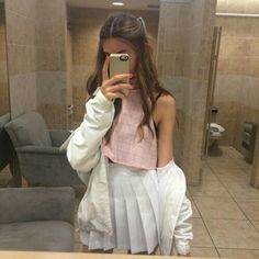top cute pink skirt kawaii outfit fashion grunge tumblr girl beautiful aesthetic square tumblr outfit tumblr jacket