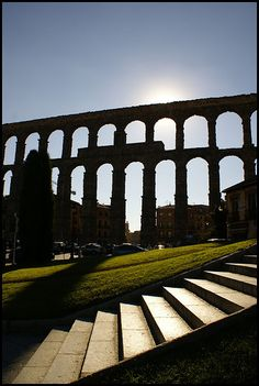 Acueducto de Segovia a  Contraluz,  Spain   by migajiro, via Flickr