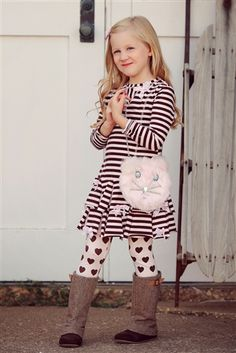 Love this Ruffle Dress and Leggings Set by Kate Mack clothing!