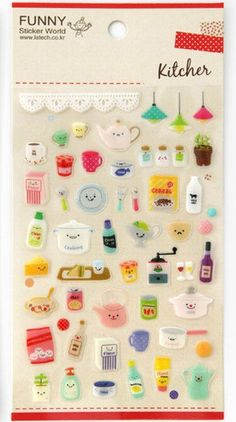 Kawaii Diy Deco Sticker kitchen great for by cinderella201021, $2.20