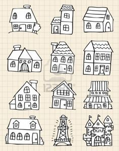 Find cute house draw Stock Vectors and millions of other royalty-free stock photos, illustrations, and vectors in the Shutterstock collection. Thousands of new, high-quality images added every day. Doodle Drawings, Easy Drawings, Doodle Art, Doodle Lettering, Hand Lettering, Draw Tutorial, House Doodle, Cartoon House, House Sketch