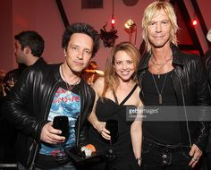 Recording artist Billy Morrison, Jennifer Morrison and recording artist Duff McKagan attend a dinner hosted by Chrome Hearts in honor of Jake Shears Of Scissor Sisters at Chrome Hearts Factory on March 27, 2011 in Los Angeles, California.
