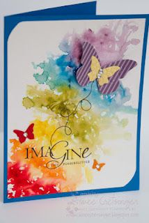 Aimee's Creations: Watercolor Butterflies...beautiful impressionistic (and quick!!) background...