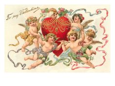 June 4 An Angel Says . God measures us by putting the tape measure around our hearts. Valentine Cupid, Valentine Love Cards, Victorian Valentines, Vintage Valentines, Cupid Images, Heart Poster, Love Holidays, Holiday Postcards, Vintage Cards