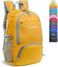Lightweight Packable Backpack Water Resistant Hiking Daypack Small Bag Yellow US Swissgear Laptop Backpack, Small Backpack, Rucksack Backpack, Hiking Day Pack, Hiking Bag, Hiking Tips, Lightweight Travel Backpack, Orange Backpacks, Outdoor Backpacks