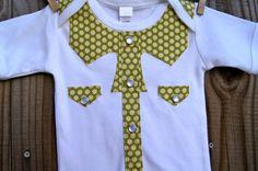 Cuddlestar Pearl Snap Button Onesie by Cuddlestar on Etsy, $24.00