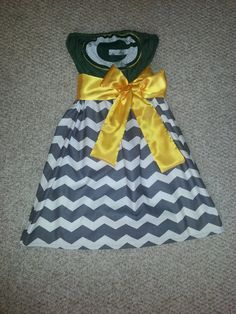 Green Bay Packers Custom Game Day Dress by frocksbyKAV on Etsy