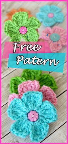 This adorable little flower pattern is easy to work up. It's perfect for babies, embellishing hats, and gluing to other fun projects. Go to free pattern by Lauren Brown Crochet Flower Patterns, Crochet Patterns For Beginners, Crochet Flowers, Crochet Small Flower, Love Crochet, Knit Crochet, Crochet Cushions, Tunisian Crochet, Small Flowers