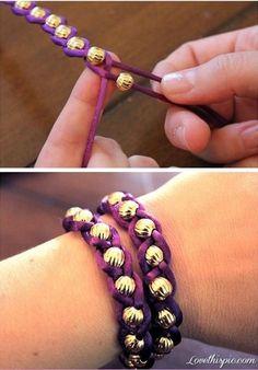 DIY Bead Bracelets diy craft crafts craft ideas easy crafts diy ideas diy crafts crafty easy diy diy jewelry diy bracelet craft bracelet