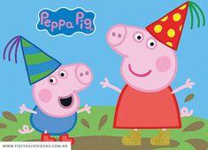 Invitacion de cumpleaños de Peppa Pig Pig Birthday Cakes, Birthday Parties, Peppa Pig Gratis, Invitacion Peppa Pig, Peppa Pig Teddy, Pikachu, Personalized Birthday Invitations, Easy Christmas Decorations, Invitation Cards