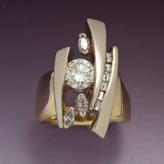 Abstract Diamond Ring.