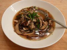 Wild Mushroom & Wild Rice Chicken Soup (no cream)