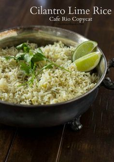 Cilantro Lime Rice Cafe Rio {Copycat} [+ Video] - Oh Sweet Basil - Rice Recipes Rice Cooker Recipes, Cooking Recipes, Healthy Recipes, Cooking Tips, Think Food, I Love Food, Rice Dishes, Food Dishes, Do It Yourself Food