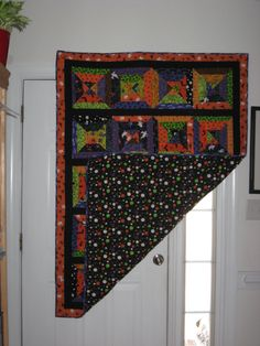 Taylor's Halloween quilt with back showing