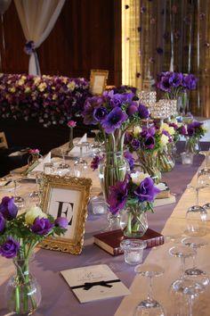 wedding decoration of anemone