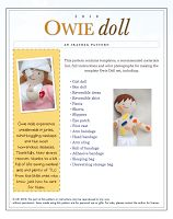 So many cute patterns on this site. I love the owie doll, what a great idea!
