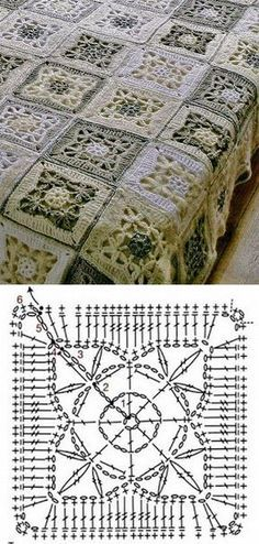 Granny Squares to Crochet..free schema pattern only!