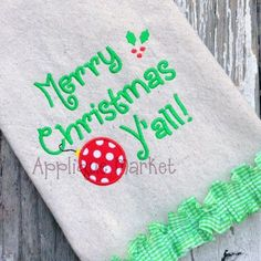 Applique Market has a wonderful selection for all of your Christmas design needs. Customized clothing is the perfect gift to celebrate the holiday season like with this Merry Christmas Yall applique design.