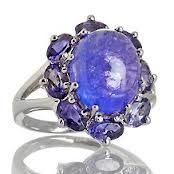 A lovely example of cabochon cut Tanzanite.