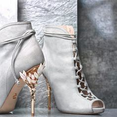 """best sneakers 06f17 9459b Ralph   Russo on Instagram  """"Shoes to love to the moon and back - the  Eden  Heel Open Toe Ankle Boot in Moonshadow, now available from the link in our  bio."""