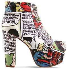 really cool comic book inspired shoes