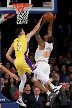 Lonzo Ball Photos Photos  Los Angeles Lakers v New York Knicks. Lance ThomasLakers  ... d3df6d24c