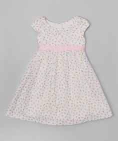 This Pink & Ivory Floral A-Line Dress - Toddler & Girls by Laura Ashley London is perfect! #zulilyfinds