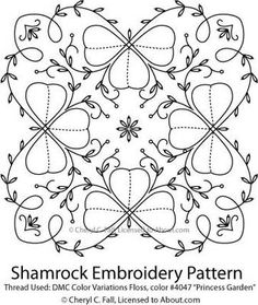 Embroidered Shamrocks Pattern