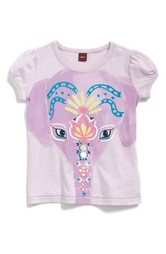 Tea Collection 'Painted Elephant' Cotton Tee (Toddler Girls, Little Girls & Big Girls) available at #Nordstrom