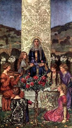 The Book of old English songs and ballads, illustrated in colour by Eleanor Fortescue Brickdale. Published 1900 by Hodder and Stoughton