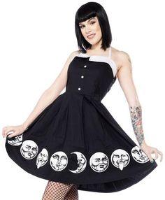 Moon Faces Spooksville Dress - Vagabond Gypsy Designs - 1