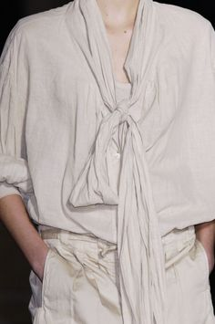 DRIES VAN NOTEN | vintage tie blouse