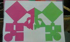 Geknipt gekleurd papier compositie
