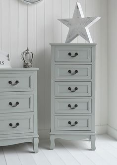 Berkeley Tallboy Chest Of Grey Drawers. Ideal For Bedroom, Hall, Living  Room Or Bathroom. Grey And White Bedroom Furniture. New England, Scandi,  French And ...