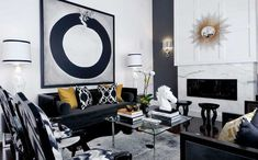 What Black White And Gold Living Room Design Is - and What it Is Not - myria. What Black White And Gold Living Room Design Is – and What it Is Not – myriadinspira Black And Gold Living Room, Living Room White, Living Room Sofa, Living Room Interior, Living Rooms, White Bedroom, Black Sofa Living Room Decor, Gold Bedroom, Cozy Living