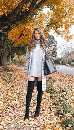 60 Trendy and Flawless Fall & Winter Outfits You'll Love Thi.- 60 Trendy and Flawless Fall & Winter Outfits You'll Love This Year 60 Trendy and Flawless Fall & Winter Outfits You'll Love This Year – Cool Fashion Accessories - Casual Fall Outfits, Fall Winter Outfits, Autumn Winter Fashion, Cute Outfits, Fall Fashion, Crazy Outfits, Women's Casual, Black Outfits, Winter Dresses