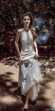 galia lahav gala 4 2018 bridal sleeveless halter jewel neck full embellishment elegant sheath wedding dress open low back short train (910) mv -- Gala by Galia Lahav 2018 Wedding Dresses
