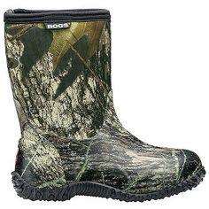 Bogs Classic Mid Camo T/P/G Boots (Mossy Oak) - Kids' Boots - 13.0 M