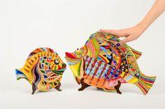 Resultado de imagen para ceramica peces decorativos