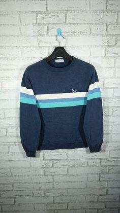 Vintage 90s Troy Bros Striped Surf Skate Sweatshirt Size Medium M / skate skateboard / Vintage Quiks