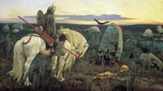Vasnetsov Viktor Mikhailovich - A Knight at the Crossroads